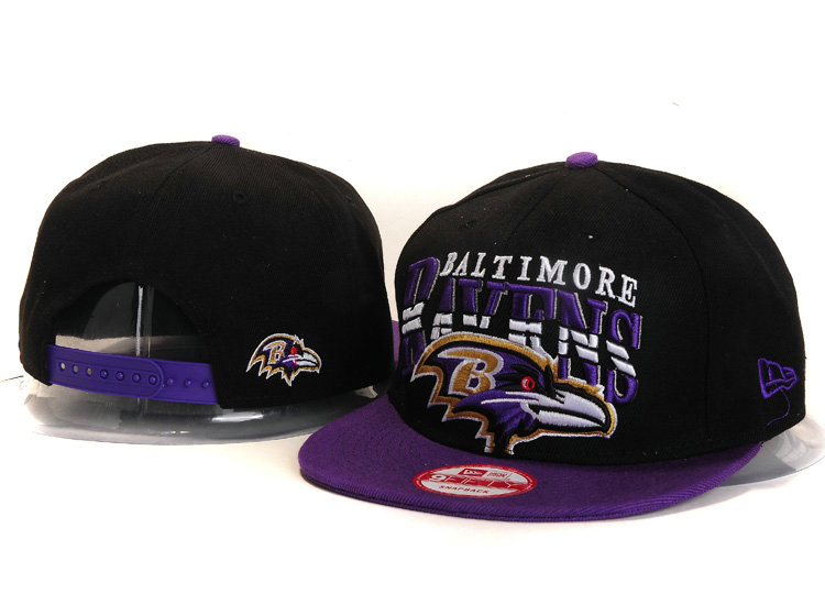 Baltimore Ravens Black Snapback Hat YS 1